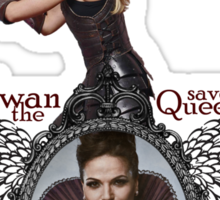 Swan Save The Queen Sticker