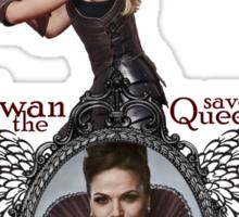 Swan Save The Queen Sticker