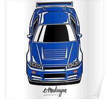 Nissan Skyline R34 GT-R Poster