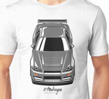 Nissan Skyline R34 GT-R (grey) Unisex T-Shirt