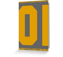 Performans Racing 01 Greeting Card