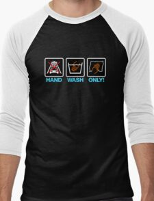 Hand Wash Only! (3) Men's Baseball ¾ T-Shirt