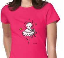 HAPPY WOMAN GIRL PRINCESS DANCING BALLET WITH LUCKY STARS Womens Fitted T-Shirt