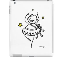 HAPPY WOMAN GIRL PRINCESS DANCING BALLET WITH LUCKY STARS iPad Case/Skin