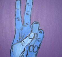 Hand Signs Series 1 - Peace by rainydayart