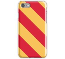 Ames Iowa Red & Yellow Sports Team Stripes iPhone Case/Skin