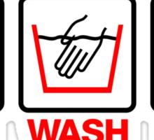 Hand Wash Only! (4) Sticker