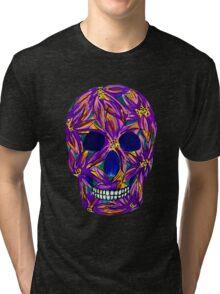 Sugar Skull (large, untiled design) Tri-blend T-Shirt