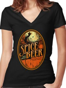 Spice Beer Label Women's Fitted V-Neck T-Shirt