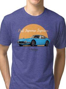 Toyota 2000 GT (blue) Tri-blend T-Shirt