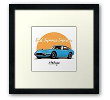 Toyota 2000 GT (blue) Framed Print