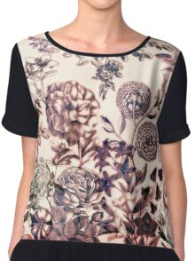 Botanical Flowers - Tattoo on Chaos Chiffon Top
