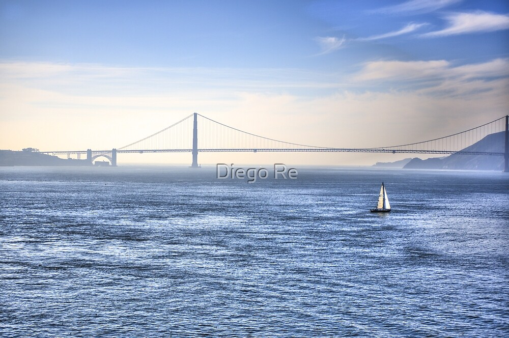 Sailing In The Bay by Diego Re