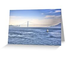 Sailing In The Bay Greeting Card