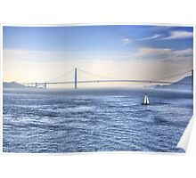 Sailing In The Bay Poster