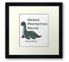 nessie protection squad Framed Print