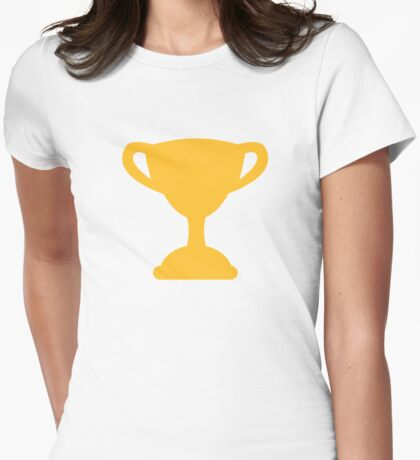 Cup trophy champion Womens Fitted T-Shirt