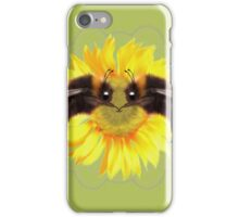 Bumble Bee on sunflower  iPhone Case/Skin