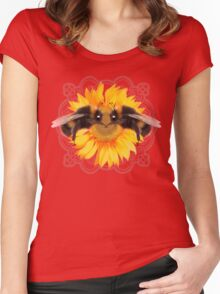 Bumble Bee on sunflower  Women's Fitted Scoop T-Shirt
