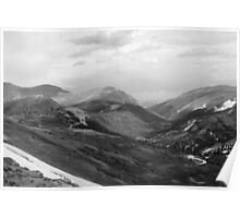 Rocky Mountain National Park 5 Black and White Poster
