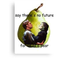 Us As A Pear Canvas Print