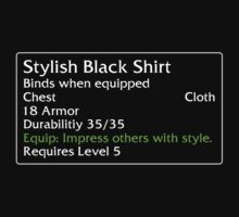 Stylish Black Shirt T-Shirt