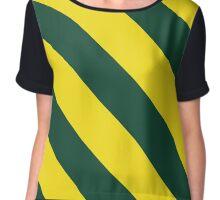 Green Bay Wisconsin Green & Yellow/Gold Stripes Chiffon Top