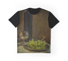 Still life with wine and grapes Graphic T-Shirt