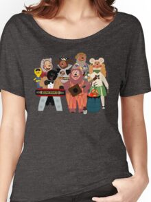 Rockafire- Showbiz Pizza Characters Women's Relaxed Fit T-Shirt
