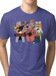 Rockafire- Showbiz Pizza Characters Tri-blend T-Shirt