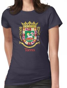 Torres Shield of Puerto Rico Womens Fitted T-Shirt