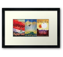 Three Alien Travel Posters Framed Print