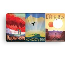 Three Alien Travel Posters Metal Print