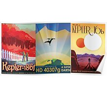 Three Alien Travel Posters Poster