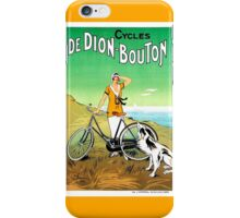 Vintage 1920s French bicycle advertisement iPhone Case/Skin