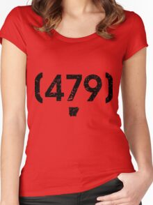 Area Code 479 Arkansas Women's Fitted Scoop T-Shirt