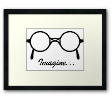 Imagine John Lennon Song Lyrics Quotes The Beatles Rock Music Framed Print