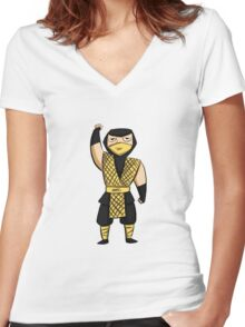 Scorpion (MK1) Women's Fitted V-Neck T-Shirt