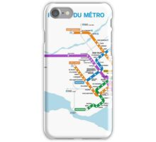 Montreal Metro Map iPhone Case/Skin