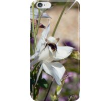 Bumble bee on pretty flower iPhone Case/Skin