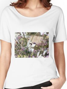Bumble bee on pretty flower Women's Relaxed Fit T-Shirt