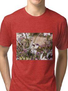 Bumble bee on pretty flower Tri-blend T-Shirt