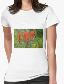 Indian Paint Brush Womens Fitted T-Shirt