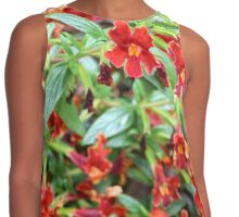 Red Tropical Contrast Tank
