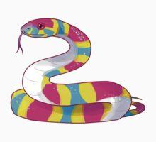 Pansssexual Snake sticker by greentorsos
