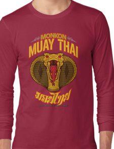 monkon muay thai cobra thailand martial art sport logo new color Long Sleeve T-Shirt