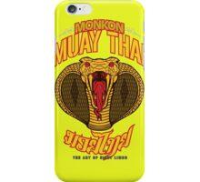 monkon muay thai cobra thailand martial art sport logo new color iPhone Case/Skin