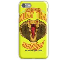 monkon muay thai cobra thailand martial art sport logo new color iPhone Case/Skin