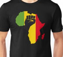 Black Power T-Shirt Africa Map T-Shirt Unisex T-Shirt