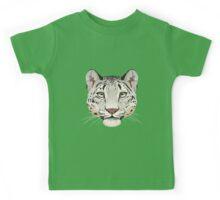 Snow Leopard Face Kids Tee